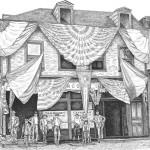 Kathy Rooney Illustration, Dan Rooney Saloon, pencil