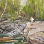 Ray Sokolowski, Painting & Sculpture, Laurel Mountains, Indian Creek, Pennsylvania, Oil on Board