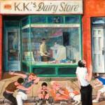 Ray Sokolowski, Painting & Sculpture,KK's Diary Store, Castle Shannon, PA, Oil on Canvas
