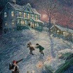 Ray Sokolowski, Painting & Sculpture,Vallevista Christmas, Castle Shannon, PA, Oil on Canvas