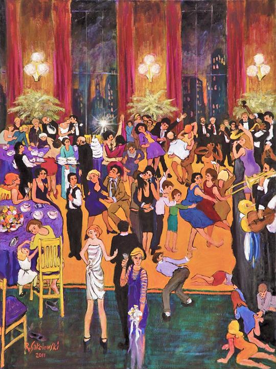 Ray Sokolowski Painting Sculpture Wedding Reception Oil On Canvas