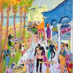 Ray Sokolowski, Painting & Sculpture, Venice Beach Boardwalk, California oil painting.